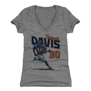 Terrell Davis Women's V-Neck T-Shirt | 500 LEVEL