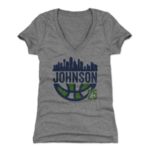 Glory Johnson Women's V-Neck T-Shirt | 500 LEVEL