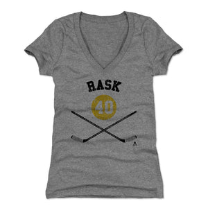Tuukka Rask Women's V-Neck T-Shirt | 500 LEVEL