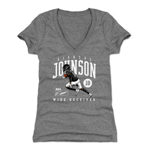 Diontae Johnson Women's V-Neck T-Shirt | 500 LEVEL