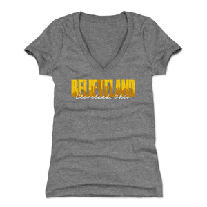 Cleveland Women's V-Neck T-Shirt | 500 LEVEL