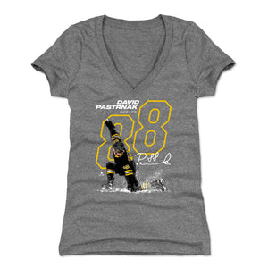 David Pastrnak Women's V-Neck T-Shirt | 500 LEVEL