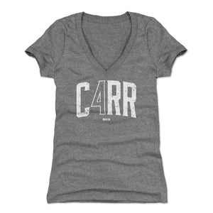 Derek Carr Women's V-Neck T-Shirt | 500 LEVEL
