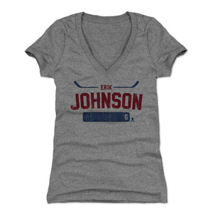 Erik Johnson Women's V-Neck T-Shirt | 500 LEVEL