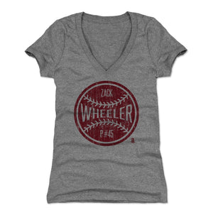 Zack Wheeler Women's V-Neck T-Shirt | 500 LEVEL