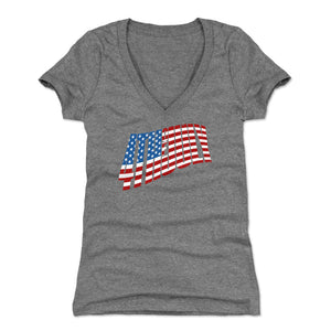USA Women's V-Neck T-Shirt | 500 LEVEL