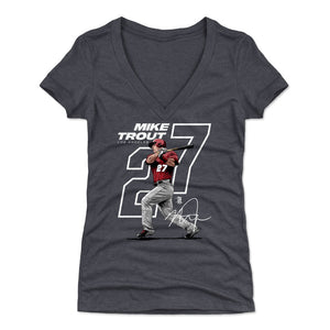 Mike Trout Women's V-Neck T-Shirt | 500 LEVEL