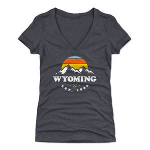 Wyoming Women's V-Neck T-Shirt | 500 LEVEL
