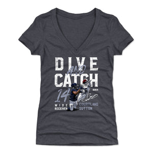 Courtland Sutton Women's V-Neck T-Shirt | 500 LEVEL