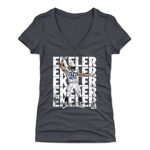 Austin Ekeler Women's V-Neck T-Shirt | 500 LEVEL