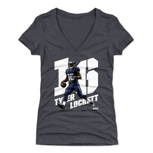 Tyler Lockett Women's V-Neck T-Shirt | 500 LEVEL