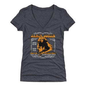 Janis Joplin Women's V-Neck T-Shirt | 500 LEVEL
