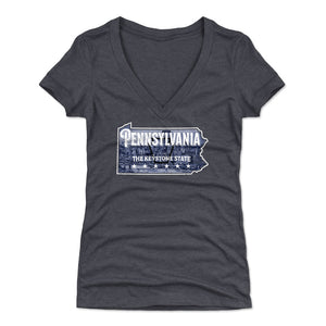 Pennsylvania Women's V-Neck T-Shirt | 500 LEVEL