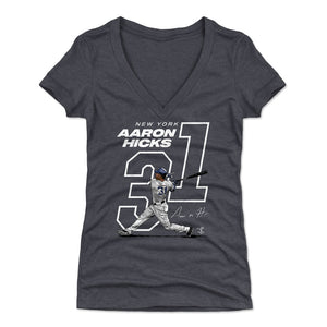 Aaron Hicks Women's V-Neck T-Shirt | 500 LEVEL