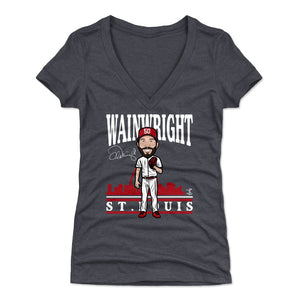 Adam Wainwright Women's V-Neck T-Shirt | 500 LEVEL