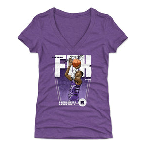 De'Aaron Fox Women's V-Neck T-Shirt | 500 LEVEL