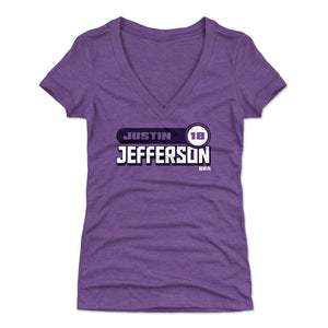 Justin Jefferson Women's V-Neck T-Shirt | 500 LEVEL