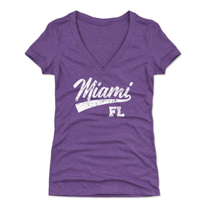 Miami Women's V-Neck T-Shirt | 500 LEVEL