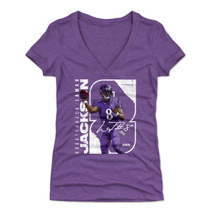 Lamar Jackson Women's V-Neck T-Shirt | 500 LEVEL