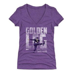 Justin Tucker Women's V-Neck T-Shirt | 500 LEVEL