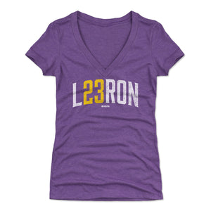 Lebron James Women's V-Neck T-Shirt | 500 LEVEL