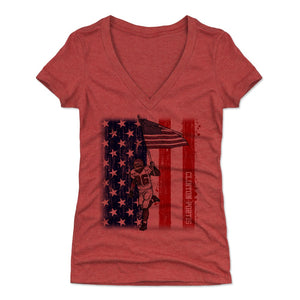 Clinton Portis Women's V-Neck T-Shirt | 500 LEVEL