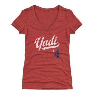 Yadier Molina Women's V-Neck T-Shirt | 500 LEVEL