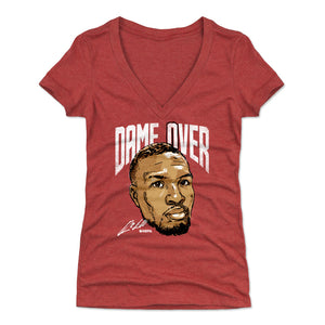 Damian Lillard Women's V-Neck T-Shirt | 500 LEVEL