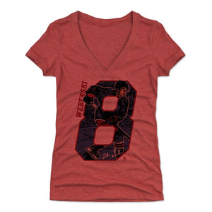 Zach Werenski Women's V-Neck T-Shirt | 500 LEVEL