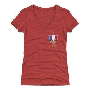 France Women's V-Neck T-Shirt | 500 LEVEL