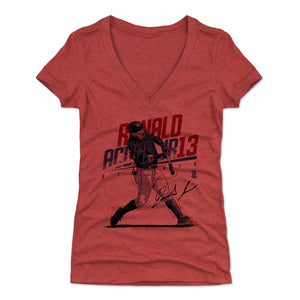 Ronald Acuna Jr. Women's V-Neck T-Shirt | 500 LEVEL