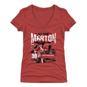 Jeff Wilson Jr. Women's V-Neck T-Shirt | 500 LEVEL