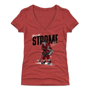 Dylan Strome Women's V-Neck T-Shirt | 500 LEVEL