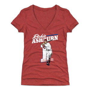 Richie Ashburn Women's V-Neck T-Shirt | 500 LEVEL