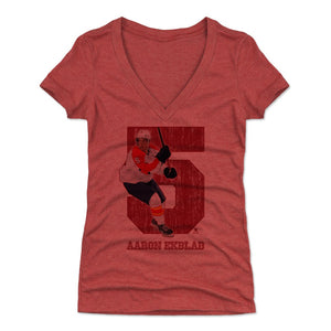 Aaron Ekblad Women's V-Neck T-Shirt | 500 LEVEL