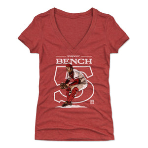 Johnny Bench Women's V-Neck T-Shirt | 500 LEVEL