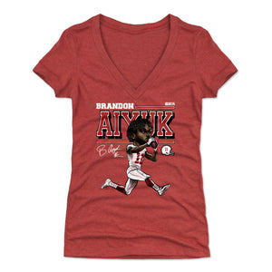 Brandon Aiyuk Women's V-Neck T-Shirt | 500 LEVEL
