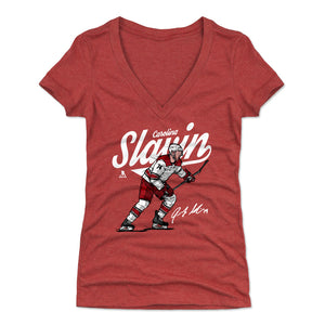 Jaccob Slavin Women's V-Neck T-Shirt | 500 LEVEL