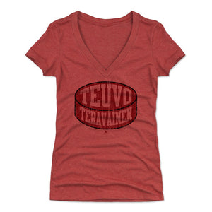 Teuvo Teravainen Women's V-Neck T-Shirt | 500 LEVEL