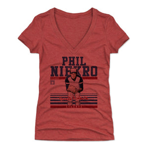 Phil Niekro Women's V-Neck T-Shirt | 500 LEVEL