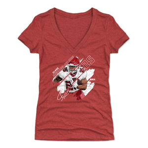 Clyde Edwards-Helaire Women's V-Neck T-Shirt | 500 LEVEL
