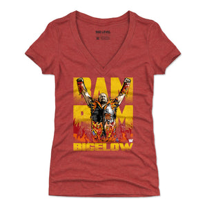Bam Bam Bigelow Women's V-Neck T-Shirt | 500 LEVEL