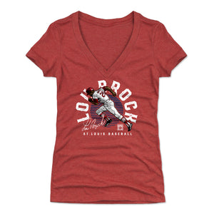 Lou Brock Women's V-Neck T-Shirt | 500 LEVEL