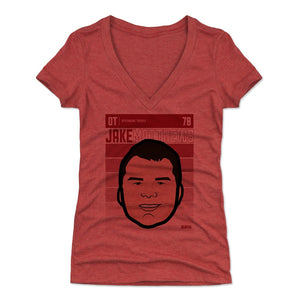 Jake Matthews Women's V-Neck T-Shirt | 500 LEVEL
