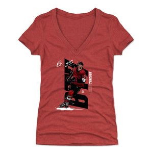 Brady Tkachuk Women's V-Neck T-Shirt | 500 LEVEL