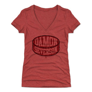 Damon Severson Women's V-Neck T-Shirt | 500 LEVEL