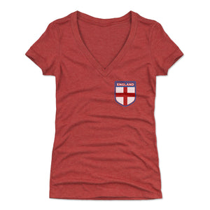 England Women's V-Neck T-Shirt | 500 LEVEL