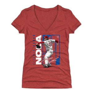 Aaron Nola Women's V-Neck T-Shirt | 500 LEVEL