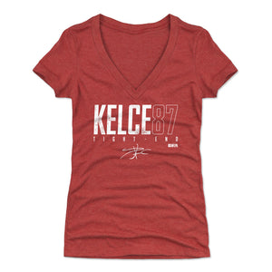 Travis Kelce Women's V-Neck T-Shirt | 500 LEVEL