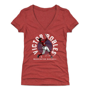Victor Robles Women's V-Neck T-Shirt | 500 LEVEL